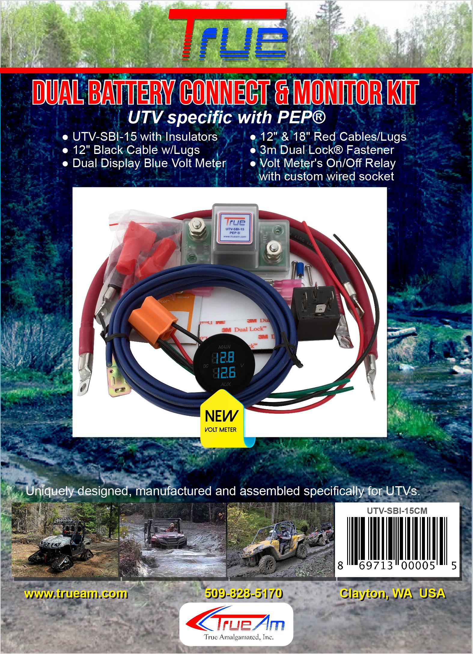 True Utv Sbi Cm Utv Dual Battery Connect Monitor Kit Trueam Dual